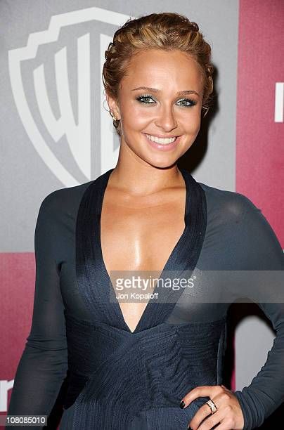 Actress Hayden Panettiere arrives at the 2011 InStyle/Warner Brothers Golden Globes Party at The Beverly Hilton hotel on January 16 2011 in Beverly...