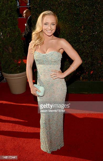 Actress Hayden Panettiere arrives at the 2012 ESPY Awards at Nokia Theatre LA Live on July 11 2012 in Los Angeles California