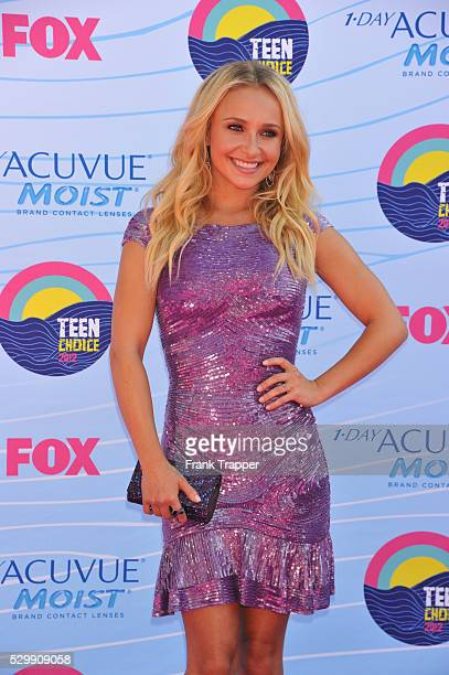 Actress Hayden Panettiere arrives at the 2012 Teen Choice Awards held at the Gibson Amphitheatre in Universal City California