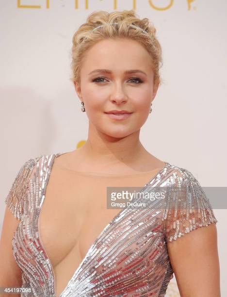 Actress Hayden Panettiere arrives at the 66th Annual Primetime Emmy Awards at Nokia Theatre LA Live on August 25 2014 in Los Angeles California