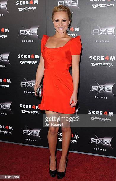Actress Hayden Panettiere arrives at the Los Angeles Premiere 'Scream 4' at Grauman's Chinese Theatre on April 11 2011 in Hollywood California