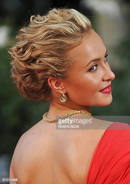 Actress Hayden Panettiere arrives for the 61th Primetime Emmy Awards at the Noika Theatre in Los Angeles California on September 20 2009 AFP PHOTO /...