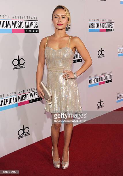 Actress Hayden Panettiere attends the 40th American Music Awards held at Nokia Theatre LA Live on November 18 2012 in Los Angeles California