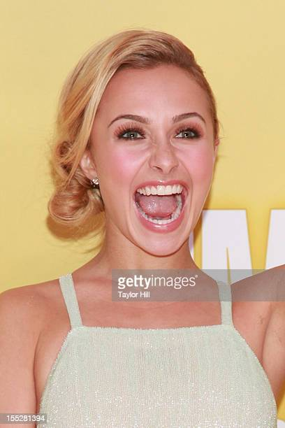Actress Hayden Panettiere attends the 46th annual CMA Awards at the Bridgestone Arena on November 1 2012 in Nashville Tennessee