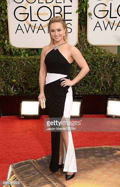 Actress Hayden Panettiere attends the 71st Annual Golden Globe Awards held at The Beverly Hilton Hotel on January 12 2014 in Beverly Hills California
