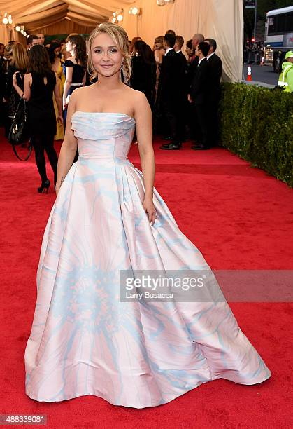 Actress Hayden Panettiere attends the Charles James Beyond Fashion Costume Institute Gala at the Metropolitan Museum of Art on May 5 2014 in New York...