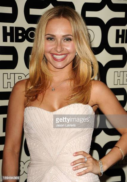 Actress Hayden Panettiere attends the HBO after party at the 70th annual Golden Globe Awards at Circa 55 restaurant at the Beverly Hilton Hotel on...