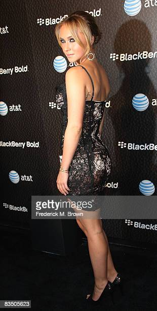 Actress Hayden Panettiere attends the Launch Party for the New Blackberry Bold telephone on October 30 2008 in Beverly Hills California