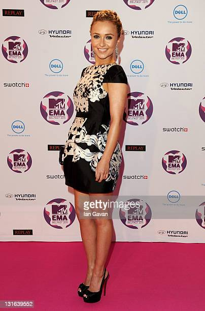 Actress Hayden Panettiere attends the MTV Europe Music Awards 2011 at the Odyssey Arena on November 6 2011 in Belfast Northern Ireland