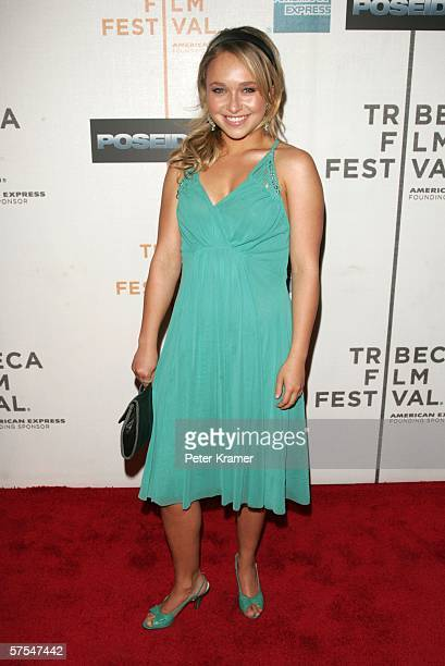"""Actress Hayden Panettiere attends the """"Poseidon"""" premiere at the Tribeca Performing Arts Center May 6, 2006 in New York City."""