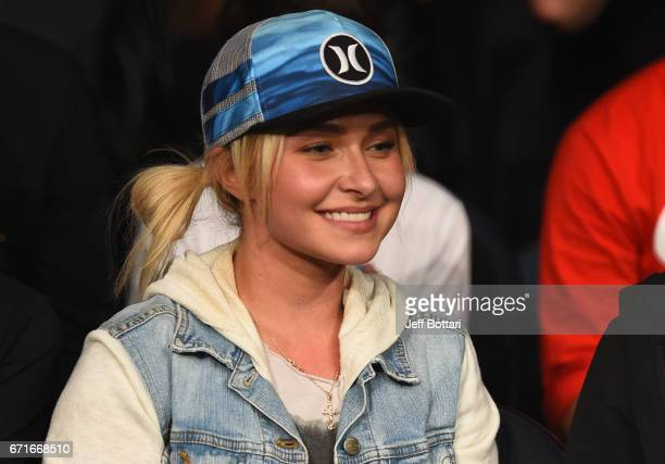 Actress Hayden Panettiere attends the UFC Fight Night event at Bridgestone Arena on April 22 2017 in Nashville Tennessee