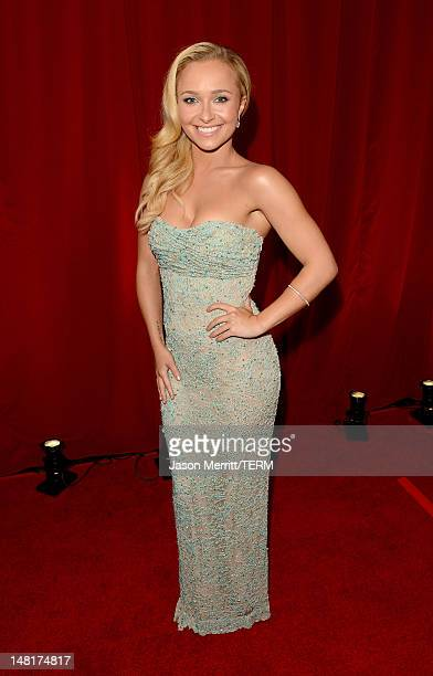Actress Hayden Panettiere poses backstage during the 2012 ESPY Awards at Nokia Theatre LA Live on July 11 2012 in Los Angeles California
