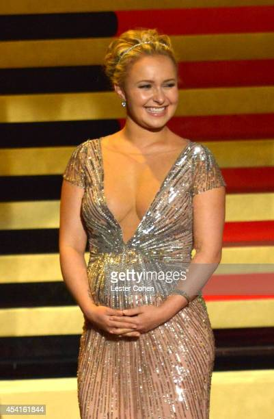 Actress Hayden Panettiere speaks onstage at the 66th Annual Primetime Emmy Awards held at Nokia Theatre L.A. Live on August 25, 2014 in Los Angeles,...