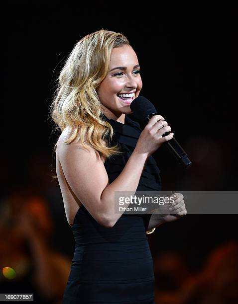 Actress Hayden Panettiere speaks onstage during the 2013 Billboard Music Awards at the MGM Grand Garden Arena on May 19 2013 in Las Vegas Nevada