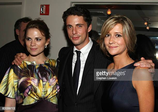 "Actress Hayley Atwell, actor Matthew Goode, and Sophie Dymoke attend the after-party for ""Brideshead Revisited"" at the Gramercy Park Hotel July 22,..."