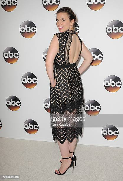 Actress Hayley Atwell arrives at Disney ABC Television Group Hosts TCA Summer Press Tour at the Beverly Hilton Hotel on August 4 2016 in Beverly...