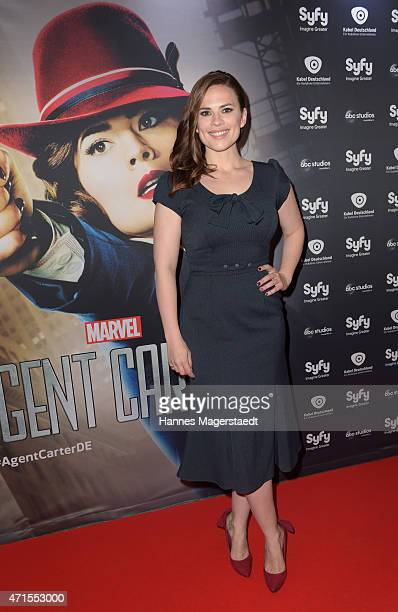 Actress Hayley Atwell attends 'Marvel's Agent Carter' Series Screening at Gloria Palast on April 29 2015 in Munich Germany The Show will be...