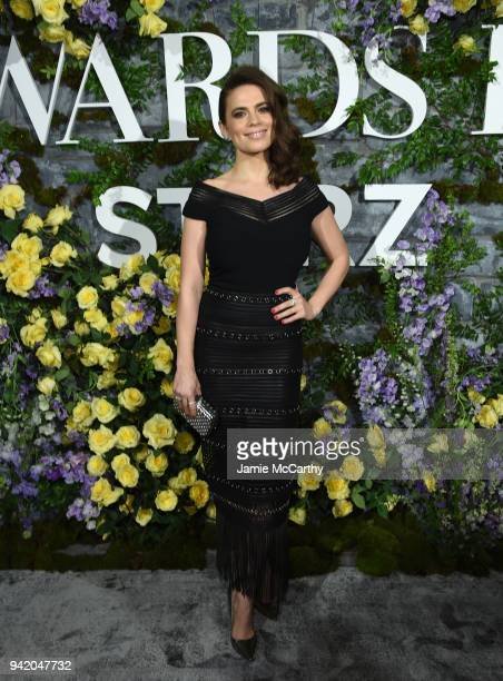 Actress Hayley Atwell attends New York Red Carpet Premiere Screening Event of STARZ Howards End at the Whitby Hotel on April 4 2018 in New York City