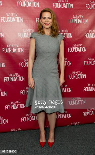 Actress Hayley Atwell attends SAGAFTRA Foundation Conversations with Hayley Atwell at SAGAFTRA Foundation Screening Room on May 22 2018 in Los...