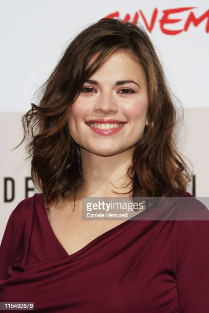Actress Hayley Atwell attends The Duchess Photocall during the 3rd Rome International Film Festival held at the Auditorium Parco della Musica on...