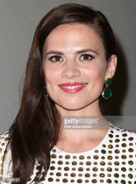 Actress Hayley Atwell attends the Marvel OneShot Comic Con screening on July 19 2013 in San Diego California