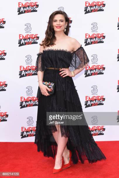 Actress Hayley Atwell attends the THREE Empire awards at The Roundhouse on March 19 2017 in London England