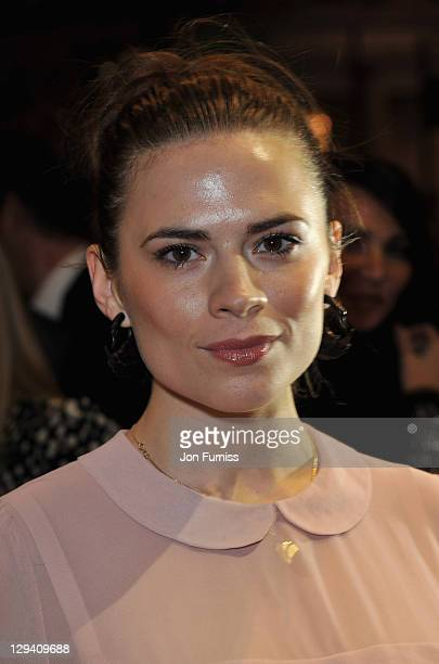 Actress Hayley Atwell attends The Umbrellas of Cherbourg Theatre Press Night at the Gielgud Theatre on March 22 2011 in London England