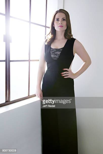 Actress Hayley Atwell is photographed for TV Guide Magazine on January 14 2015 in Pasadena California