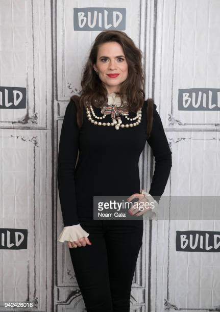Actress Hayley Atwell visits Build Series to discuss Howards End at Build Studio on April 5 2018 in New York City
