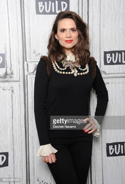 Actress Hayley Atwell visits Build Series to discuss 'Howards End' at Build Studio on April 5 2018 in New York City