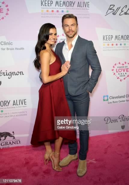 Actress Hayley Erbert and actor/dancer Derek Hough attend the 24th annual Keep Memory Alive Power of Love Gala benefit for the Cleveland Clinic Lou...