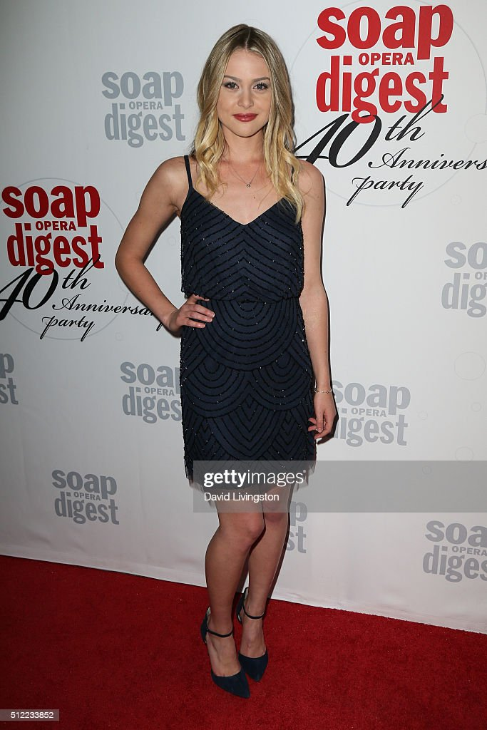 Actress Hayley Erin arrives at the 40th Anniversary of the Soap Opera Digest at The Argyle on February 24, 2016 in Hollywood, California.