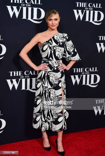 US actress Hayley Erin arrives for Disney's The Call of the Wild premiere at El Capitan theatre in Hollywood California on February 13 2020