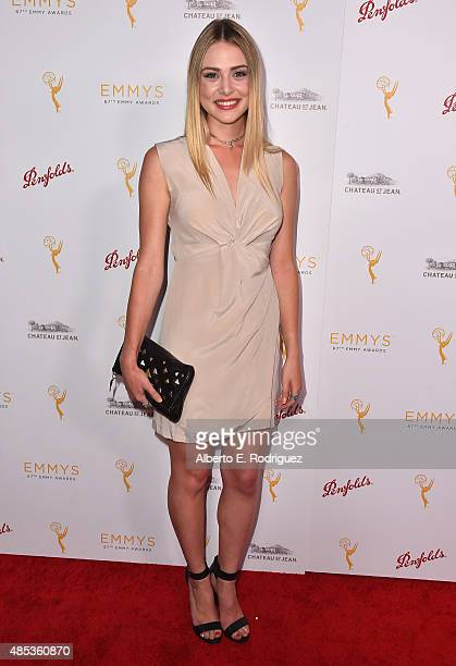 Actress Hayley Erin attends a cocktail reception hosted by the Academy of Television Arts Sciences celebrating the Daytime Peer Group at Montage...