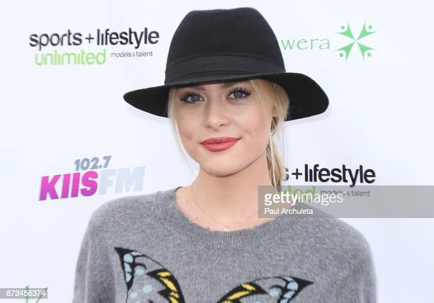 Actress Hayley Erin attends the Kusewera celebrity basketball game at Notre Dame High School on November 12 2017 in Sherman Oaks California