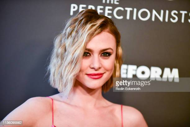 Actress Hayley Erin attends the Pretty Little Liars The Perfectionists Premiere at Hollywood Athletic Club on March 15 2019 in Hollywood California