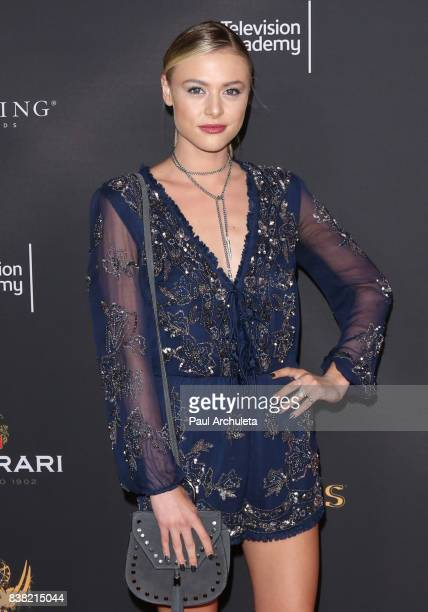 Actress Hayley Erin attends the Television Academy's cocktail reception with the Stars of Daytime Television celebrating The 69th Emmy Awards at...