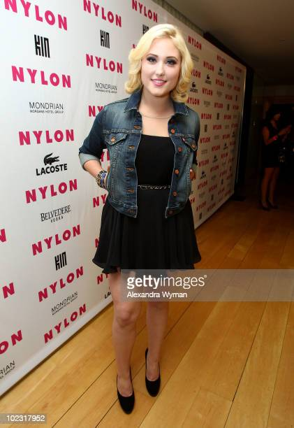 Actress Hayley Hasselhoff arrives at Nylon Magazine's Music Issue party hosted by MIA held at SkyBar in the Mondrian Hotel Los Angeles on June 22...