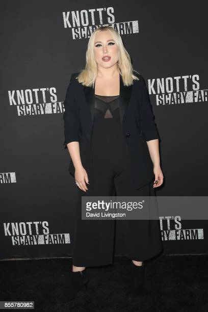 Actress Hayley Hasselhoff attends the Knott's Scary Farm and Instagram's Celebrity Night at Knott's Berry Farm on September 29 2017 in Buena Park...