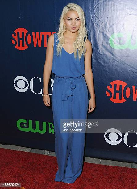Actress Hayley Kiyoko arrives at CBS CW And Showtime 2015 Summer TCA Party at Pacific Design Center on August 10 2015 in West Hollywood California