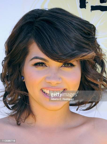 """Actress Hayley Kiyoko arrives to the premiere of Disney Channel's """"Lemonade Mouth"""" at Stevenson Middle School on April 12, 2011 in Los Angeles,..."""