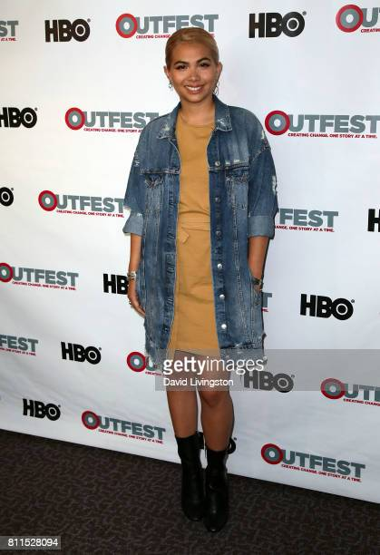 Actress Hayley Kiyoko attends the 2017 Outfest Los Angeles LGBT Film Festival centerpiece screening of 'Becks' at the DGA Theater on July 9 2017 in...