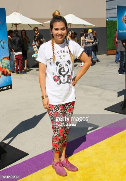 Actress Hayley Kiyoko attends the the premiere of the new 3D Ultra HD digital animation adventure 'Despicable Me Minion Mayhem' at Universal Studios...
