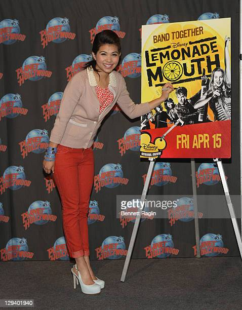 Actress Hayley Kiyoko visits Planet Hollywood Times Square on April 8 2011 in New York City