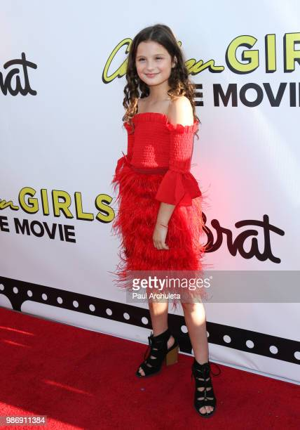 """Actress Hayley LeBlanc attends the Gen-Z Studio Brat's premiere of """"Chicken Girls"""" at The Ahrya Fine Arts Theater on June 28, 2018 in Beverly Hills,..."""