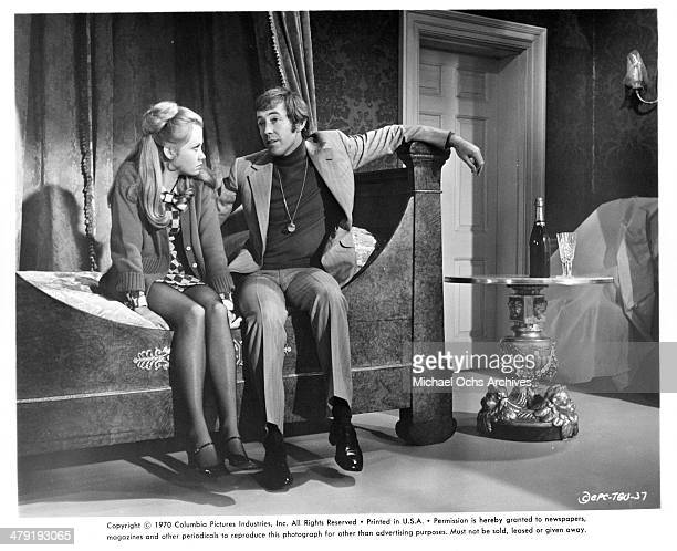 Actress Hayley Mills and actor Noel Harrison in a scene from the Columbia Picture movie Take a Girl Like You circa 1970