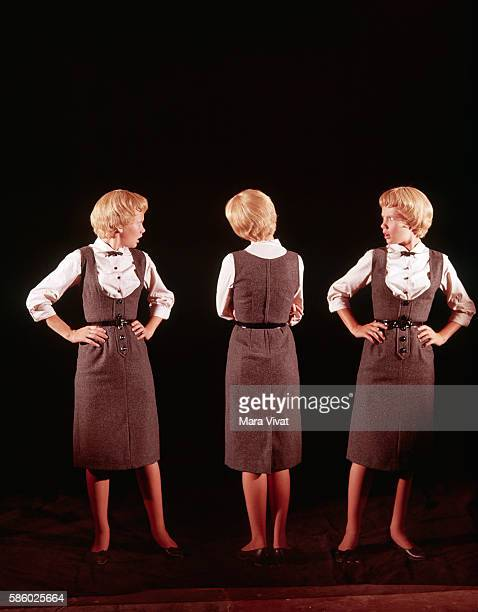 Actress Hayley Mills plays identical twins in the movie The Parent Trap