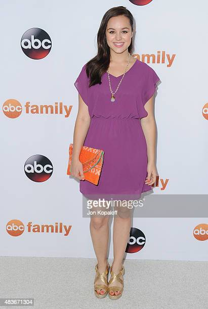 Actress Hayley Orrantia arrives at Disney ABC Television Group's 2015 TCA Summer Press Tour at the Beverly Hilton Hotel on August 4 2015 in Beverly...