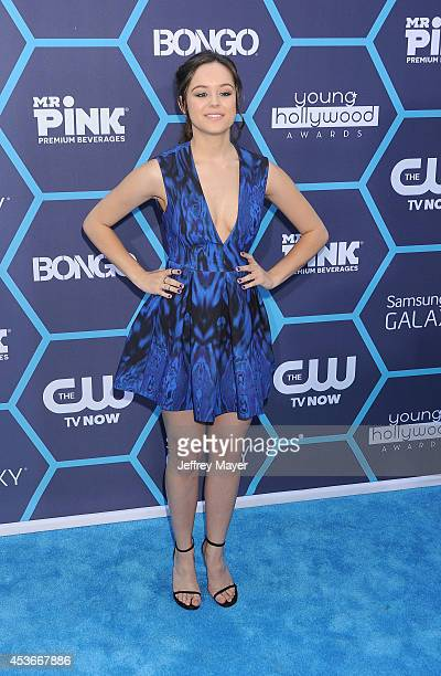 Actress Hayley Orrantia arrives at the 16th Annual Young Hollywood Awards at The Wiltern on July 27 2014 in Los Angeles California