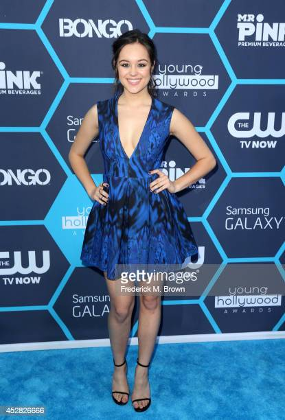 Actress Hayley Orrantia attends the 2014 Young Hollywood Awards brought to you by Samsung Galaxy at The Wiltern on July 27 2014 in Los Angeles...